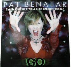 Pat Benatar Window Cling