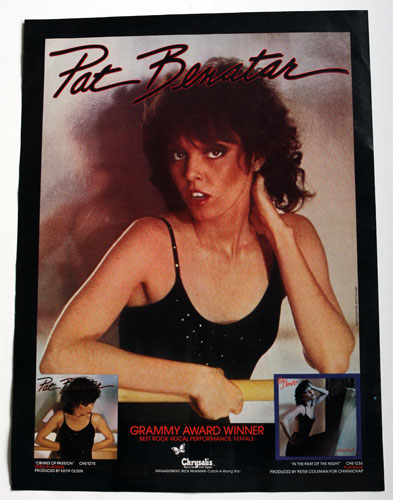 Pat Benatar Grammy Award Winner Ad