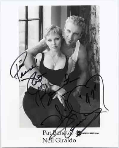 Pat Benatar - Neil Giraldo autographed photo