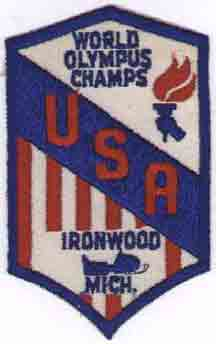 Ironwood Michigan World Olympus Champs patch