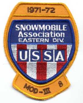 USSA Snowmobile Association Eastern Division drivers patch