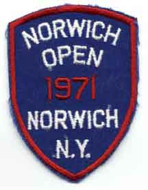 Norwich Open 1971 patch