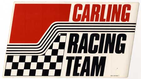 Carling Racing Team large sticker vintage